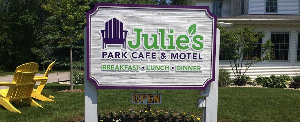 Julie's Park Cafe & Motel Fish Creek, WI