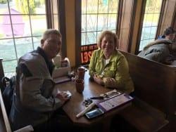 Visitors Dining at Julie's Cafe Fish Creek, WI