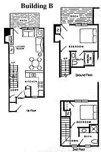 Door County Condo Building B Floorplan